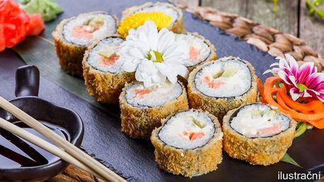 Delikatesní sushi set pro 2 v stylovém prostředí