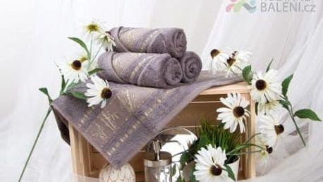 XPOSE ® Bambusový ručník MAYA - šedá 50x90 cm