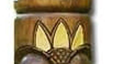 Dřevěný sloup Garth totem hnědý 100 cm