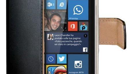 CELLY Wally pouzdro pro Microsoft (Nokia) Lumia 535, PU kůže, černá - WALLY469