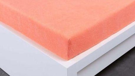 XPOSE ® Froté prostěradlo Exclusive dvoulůžko - lososová 200x220 cm