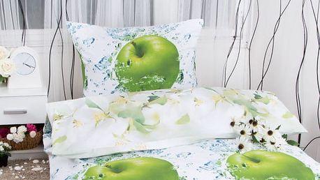 Hermann cotton Bavlněné povlečení JABLKO - zelená 140x200, 70x90