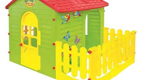 Mochtoys Dětský zahradní domek s plotem velký