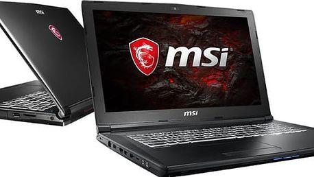 MSI GL62 7RDX-1416CZ, černá + MSI batoh GS Gaming Backpack v ceně 999 Kč + dráček MSI + podložka pod myš MSI