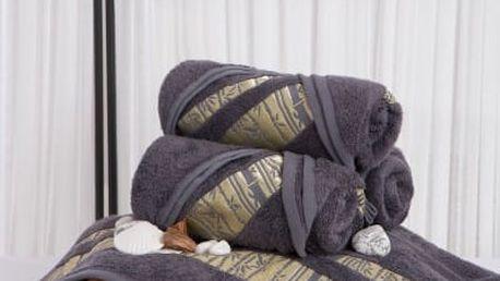 XPOSE ® Bambusový ručník MINA - šedá 50x90 cm