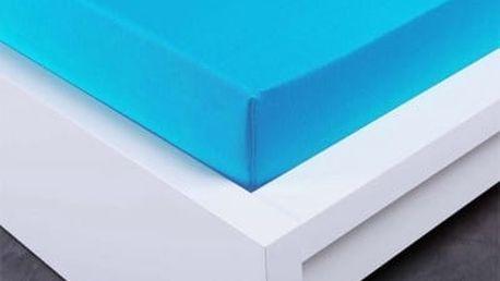 XPOSE ® Bambusové jersey prostěradlo dvoulůžko - modrá 180x200 cm