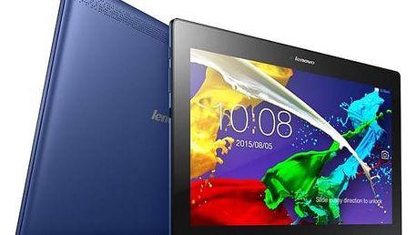 Dotykový tablet Lenovo TAB 2 A10-70L LTE (ZA010012CZ) modrý SIM s kreditem T-Mobile 200Kč Twist Online Internet (zdarma) + Doprava zdarma