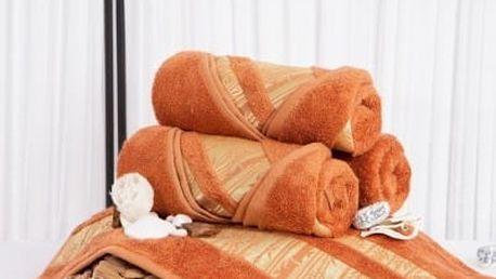 XPOSE ® Bambusový ručník MINA - tmavě oranžová 50x90 cm