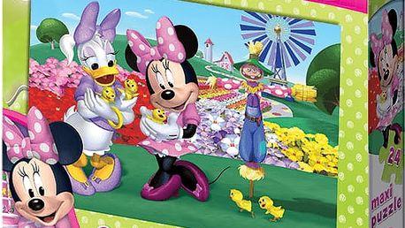 DINO Deskové Puzzle Floor Minnie 24ks