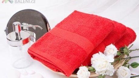 XPOSE ® Froté ručník VERONA - červená 50x90 cm