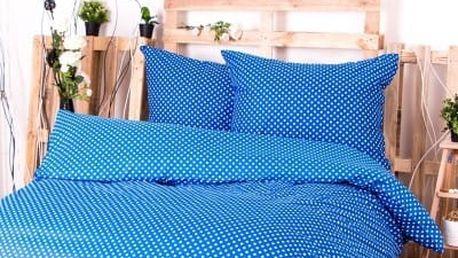 XPOSE ® Francouzské bavlněné povlečení MARKÉTA EXCLUSIVE - modrá 200x220, 70x90