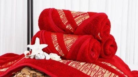 XPOSE ® Bambusový ručník MINA - červená 50x90 cm