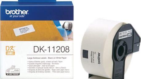Brother DK-11208 (papírové/široké adresy - 400ks) 38x90mm - DK11208