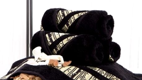 XPOSE ® Bambusový ručník MINA - černá 50x90 cm