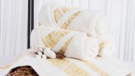 XPOSE ® Bambusový ručník MINA - smetanová 50x90 cm