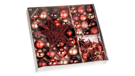 Vánoční ozdoby set Luxury Maroon