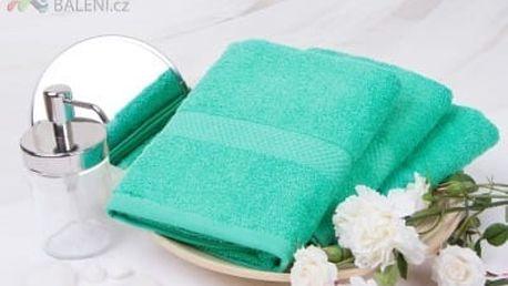 XPOSE ® Froté ručník VERONA - modrozelená 50x90 cm