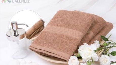 XPOSE ® Froté ručník VERONA - hnědá 50x90 cm