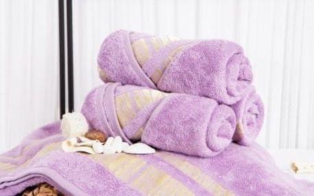 XPOSE ® Bambusový ručník MINA - levandulová 50x90 cm