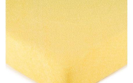 4Home froté prostěradlo žlutá, 90 x 200 cm