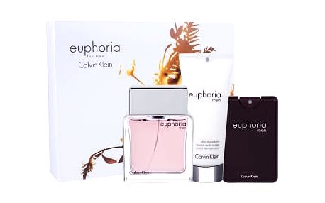 Calvin Klein Euphoria Men dárková kazeta pro muže toaletní voda 100 ml + balzám po holení 100 ml + toaletní voda 20 ml