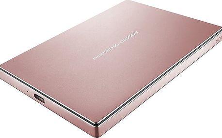 LaCie Porsche Design Mobile - 2TB, růžová - STFD2000406