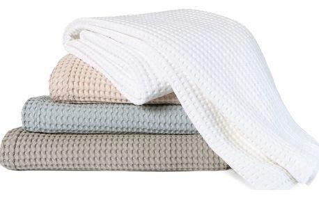 Vandyck Vandyck Luxusní přehoz na postel Home Piqué waffle White - bílá