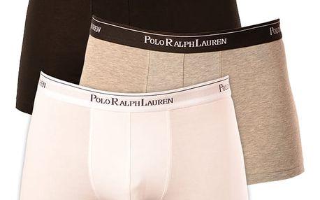 3PACK pánské boxerky Ralph Lauren bílo černo šedé L