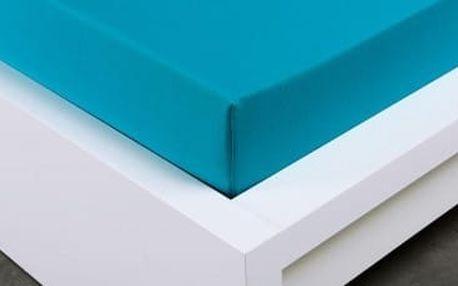 XPOSE ® Jersey prostěradlo Exclusive - tyrkysová 120x200 cm