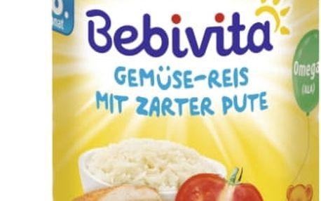 6x BEBIVITA Zelenina - rýže s krůtím masem (220 g) - masozeleninový příkrm