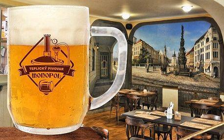 2 až 3denní pobyt pro 2 s konzumací piva v luxusním hotelu Monopol**** v Teplicích