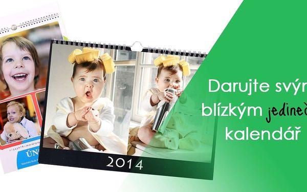 Fotokalendář z vlastních fotografií na křídovém papíře