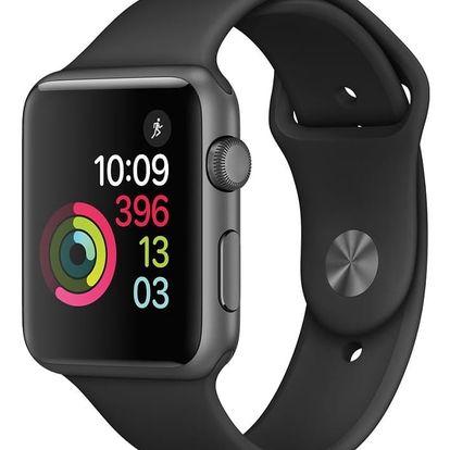 Chytré hodinky Apple Watch Series 1, 42mm pouzdro z vesmírně šedého hliníku – černý sportovní řemínek (MP032CN/A)