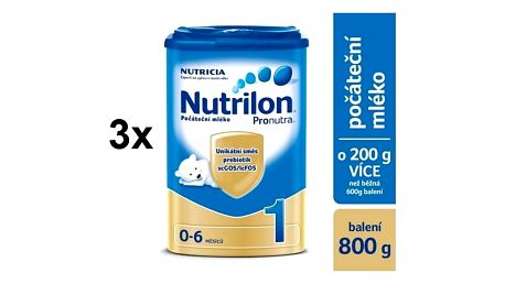 Kojenecké mléko Nutrilon 1 Pronutra, 800g x 3ks + Doprava zdarma