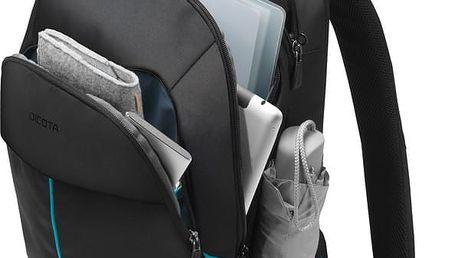 """DICOTA Backpack Trade 15,6"""", černá - D31043 + Zdarma König univerzální pouzdro na tablet 10"""" (v ceně 299,-Kč)"""