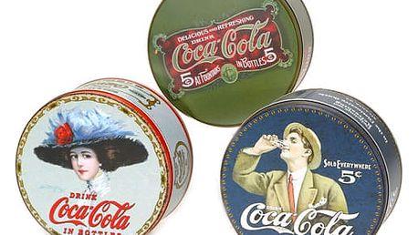 Coca-Cola Plechová dóza kulatá - různé motivy