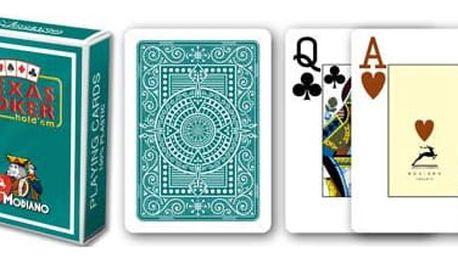 Modiano 2090 Modiano 2 rohy 100% plastové karty - Zelené