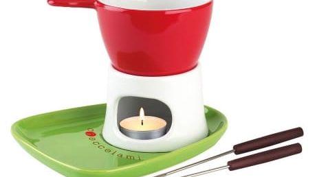 Cioccolatiera Tognana set na fondue červeno-zelený