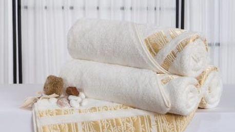 XPOSE ® Bambusová osuška MINA - smetanová 70x140 cm