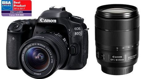 Canon EOS 80D + EF-S 18-135mm f/3,5-5,6 IS USM - 1263C041