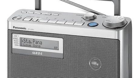 Radiopřijímač Panasonic RF-U350EG-S stříbrný