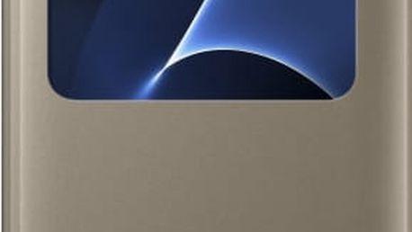 Samsung EF-CG935PF Flip S-View Galaxy S7e, Gold - EF-CG935PFEGWW