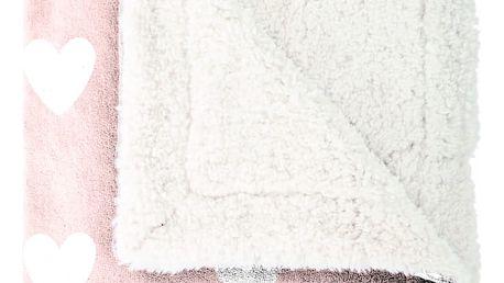 Mistral home Pléd Mistral Home beránek Amore pink růžová 130x170 cm