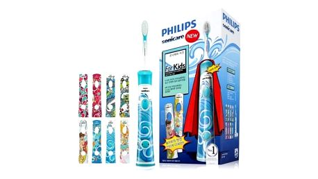 Philips Sonicare for Kids HX6311/07 Super Hero (+ 8 designových samolepek)