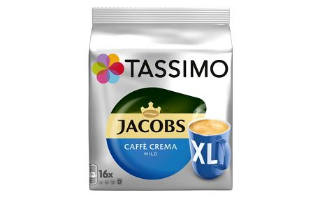 Tassimo Jacobs Caffe Crema Mild XL, 16 T-Discs 128 g