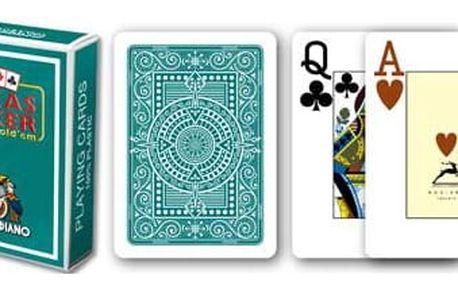 Modiano 2 rohy 100% plastové karty - Zelené