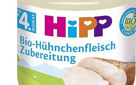 6x HIPP BIO kuřecí maso (125 g) - masový příkrm