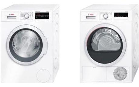Set (Sušička prádla Bosch WTH85207CS) + (Automatická pračka Bosch WAT28467CS)