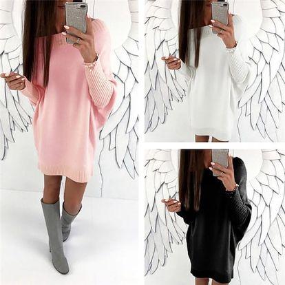 Dlouhý svetr s netopýřími rukávy Abby