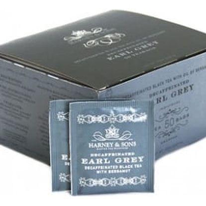 Čaj Earl Grey bezkofeinový Harney & Sons 50 sáčků